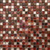 Red Wall Used Glass Mix Resin Mosaic (CSR017)