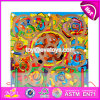 New Products Develop Intelligence Children Toy Wooden Magnetic Maze Board W11h020