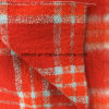 Fluff Long Yarn Check Wool Fabric