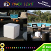 LED Furniture Plastic Lighted Square Lazy Chair