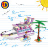 Plastic Luxury Yacht Blocks Toy for Kids