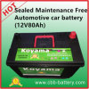 Sealed Maintenance Free Automotive Car Battery (12V80Ah)