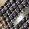 Checked Tweed Fabric for Apparel, Garments