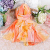 Colorful Sunscreen Printed Chiffon Fashion Scarf in 100% Polyester (HWS29)