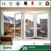PVC Hurricane Impact Interior Double Glass Folding Door for Patio
