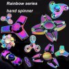 Rainbow Metal Fidget Finger Hand Spinner for Anxiety Stress Adults