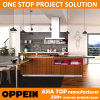 Oppein Competitive Price Asia Style Wood Grain PVC Kitchen Furniture (OP15-PVC02)