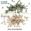 Nail Ornaments Plastic Chaton Rhinestone for Nail Art Design (HF-ss16 4mm 12 colors)
