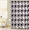 Black and White Circle Design PEVA Shower Curtain for Bathroom