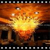 Golden Blown Glass Ornament Chandelier Light for Decoration