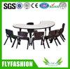 Nursery School Furniture Half Round Children Table with Chair