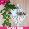 Living Room Decorate Plastic Storage Small Wall Shelf with Flower