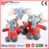 Realistic Stuffed Animals Soft Toy Elephant Wearing Cloth