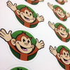 Custom Vinyl Picture Monkeys of Stickers Kiss Cut Small Stickers for Bumper