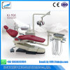 Left Handed Real Leather Dental Chair Equipment with Denmark Motor