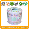 Round Tin Box for Tissue Box, Metal Gift Box