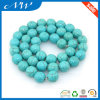 Wholease Round 4-22mm Green Synthetic Block Turquoise