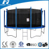 14FT Trampoline with Fiberglass Poles Jump Safety Enclosure Net