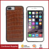 High-End Crocodile Pattern Genuine Leather Mobile Phone Case with Built-in Magnetic Pad