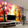 Modern Living Room TV Backdrop Wallpaper Stereoscopic HD Video Wallpaper