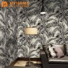 Building Material Natural Velvet Flocking Wall Paper Wallcovering Wallpaper for Home Decoration