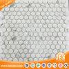 Calacatta Round Jazz White Inkjet Glass Mosaic Tile (V620001)