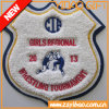 Custom Heat Border Embroidery Woven Badge, Patches / Embroidery Patch (YB-WB-427)