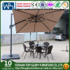Small Roman Umbrella with Canopy Rotating Function Garden Umbrella Tg-003