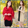 OEM Fashion Designer Solid Long Cotton Blend Casual Scarf
