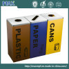 Logo Printing Three Containers Restricting Opening Waste Bin