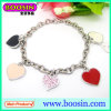 Wholesale Metal Silver DIY Enamel Charms Bracelet