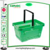 Single Handle Plastic Carry Shopping Basket