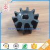 Molded Wear Resistant Rubber Water Pump Impeller with Brass Core