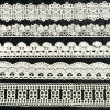 Geometry Lace Trim One Inch to Two Inch Wide, Raschel Lace Trimming L102