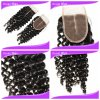 "3.5*4"" Brazilian Virgin Remy Middle Parting Kinky Curl Human Hair Lace Closure (CL-060)"
