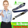 Best Selling UK Lanyard with Metal Hook and Buckle Release