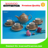 Brown Antique Custom Ceramic China Turkish Tea Set