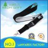 Wholesale Black Color Polyester ID Lanyard Maker with Heat Transfer