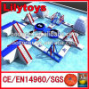 Professional Design Lake Inflatables Water Games for 60 Person