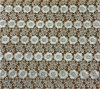 Milk White Gold Color Chemical Lace for Dress