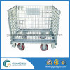 Zinc Plated Warehouse Mesh Container with 4 Wheels