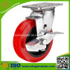 Zinc Plated Medium Duty PU Caster Wheel for Trolley