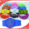 Colorful Round Shape Silicone Touching LED Watches (DYS80128)