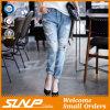Custom Girl Long Ripped Cotton Fashion Jeans Pant