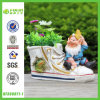 New Design Polyresin Dwarf with Shoe Pot (NF360071-1)