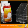 Acrylic Brochure Holder/Plastic Bookshelf/Plexiglass Acrylic Display Stand