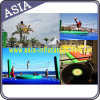 Customized Inflatable Sports Games Funny Bossaball / Volleyball Court