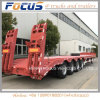 40t 60t 80t Special Vehicle Lowbed Truck Semi Trailer
