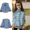 Fashion Bulk Clothing Kid Denim Coat Jacket /Girl's Coats /Child Clothes (TYA-KC1308)