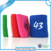 Bright Color Custom Cotton Logo Sports Wristband